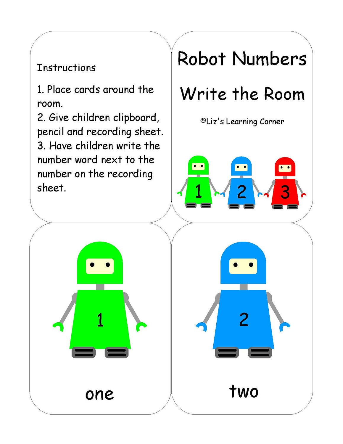 Robot Numbers Write The Room