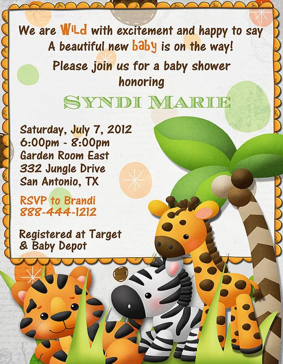 Debs Party Designs Jungle Wild With Excitement Baby Shower