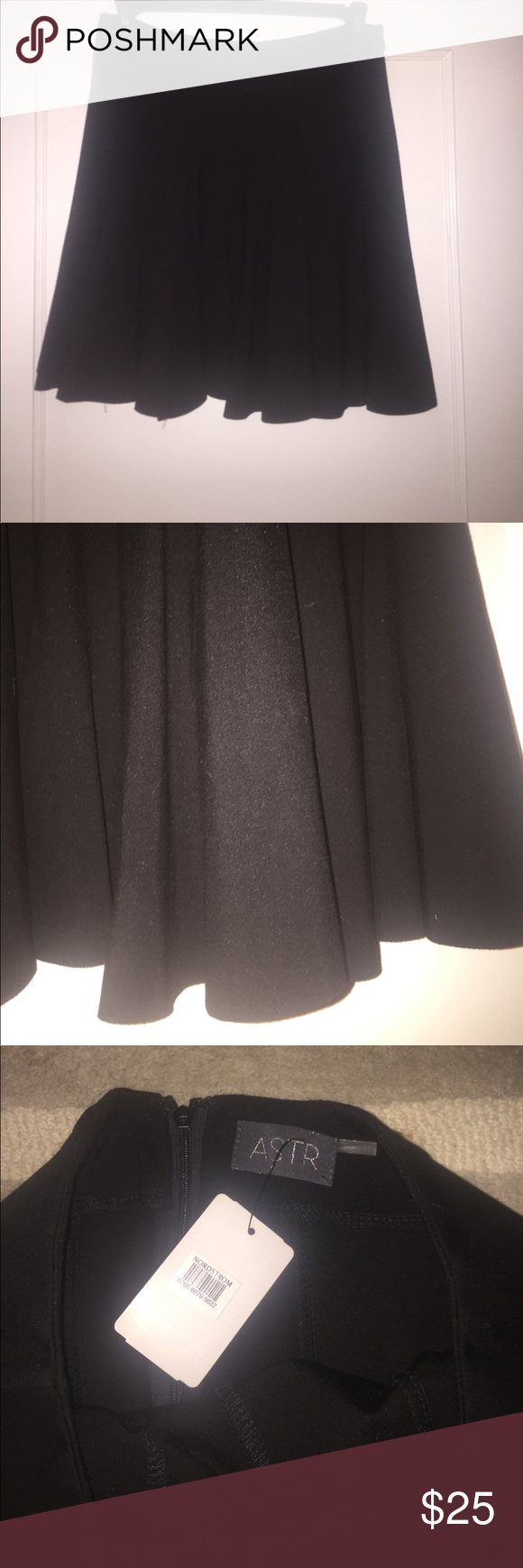 New ASTR black skater skirt From Nordstrom ASTR Skater skirt Astr Skirts Circle & Skater