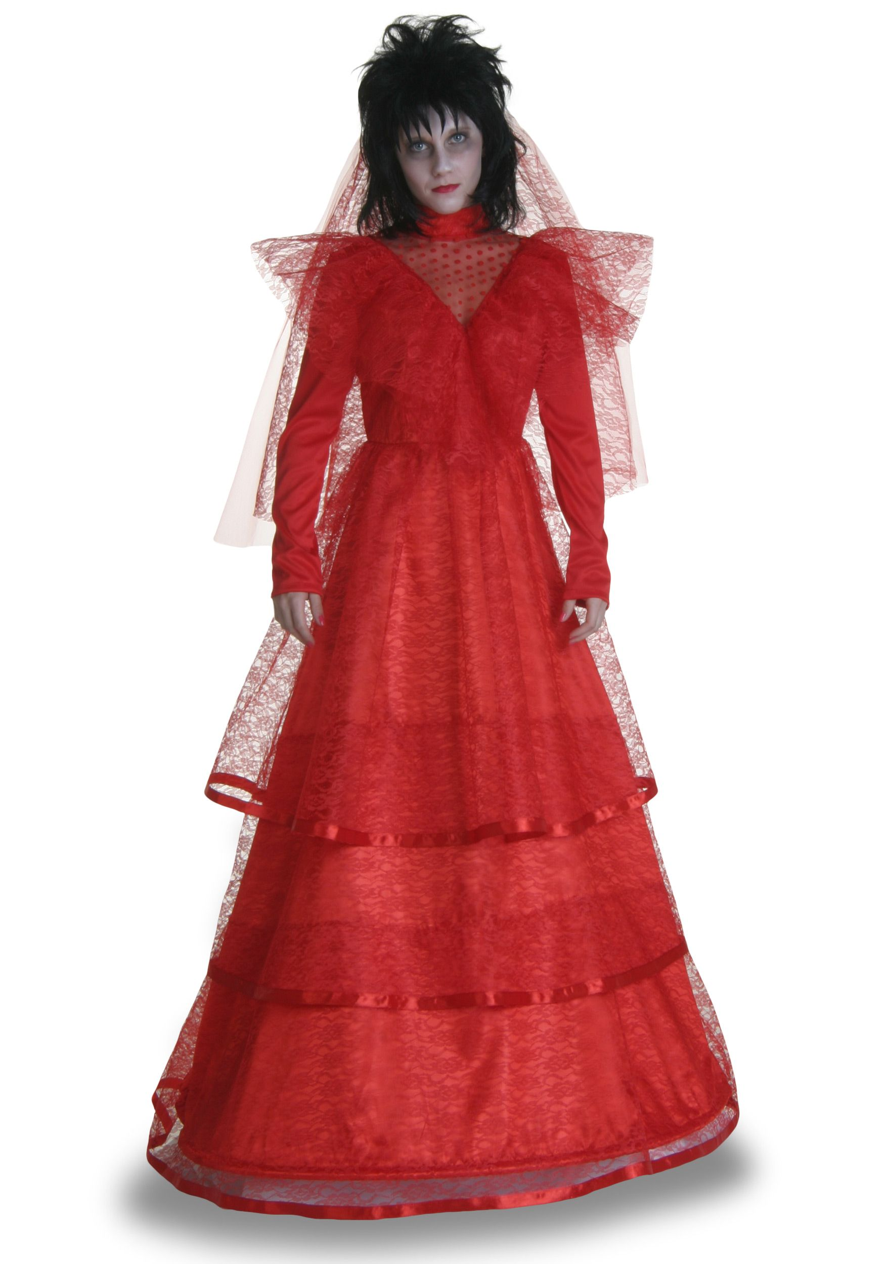 Red Gothic Wedding Dress Costume Red dress costume, Red
