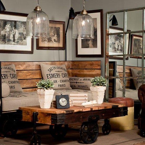 Resultado de imagen para sala de estar vintage moderno