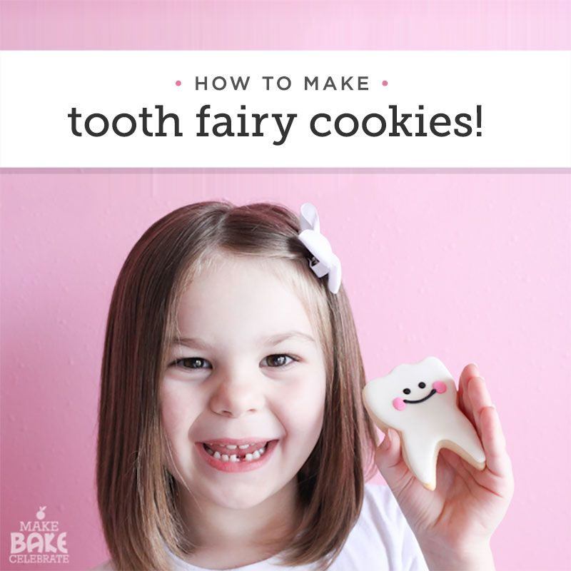 August 22 is Tooth Fairy Day! Here's how to make some adorable tooth fairy cookies! http://makebakecelebrate.com/toothfairycookies/