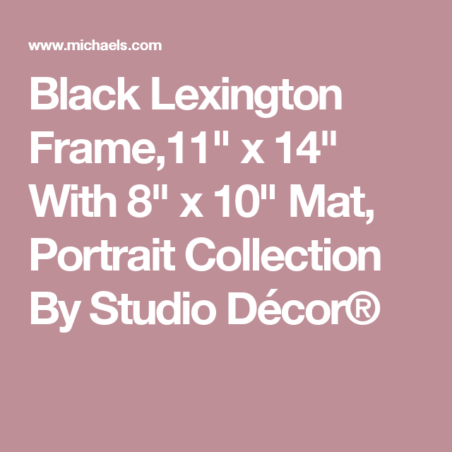 Studio Decor Viewpoint Lincoln Park Slim Line Frame With Mat Michael S 11 X 14 Matted To 8 X 10 40 16 X 20 Matted To 11 Studio Decor Frame Decor