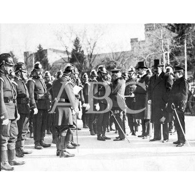 1914 Imposición Cruces Bomberos Incendio Cuartel del Pardo