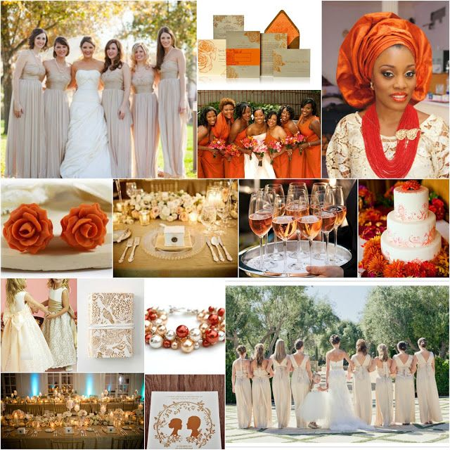 Burnt Orange Champagne Weddings Wedding Themes Invitations