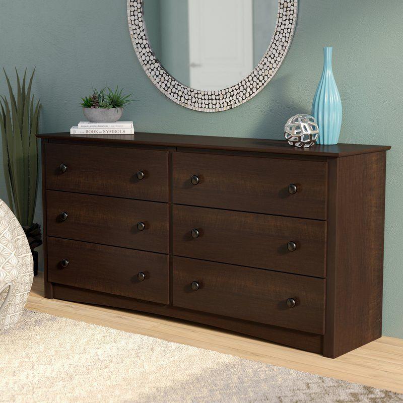 Best Blinda 6 Drawer Double Dresser Low Dresser Furniture 640 x 480