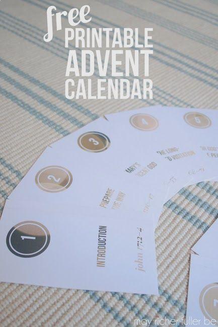 Note Card Advent Calendar {Free Printable} Christmastime Advent