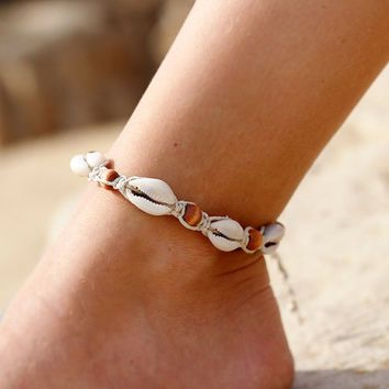 Seashell Ankle Bracelet Google Sok Wire Jewelry Pinterest