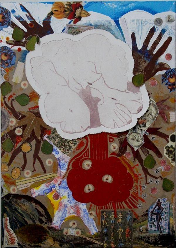 "<<FRUKTIG>> ""Høst"", Techniques mixtes sur toile, 50x70 cm, Karianne B. 2014  TELLusVISION #14 : FRUKTIG on Behance by Karianne B. -studio-TELLusVISION-"