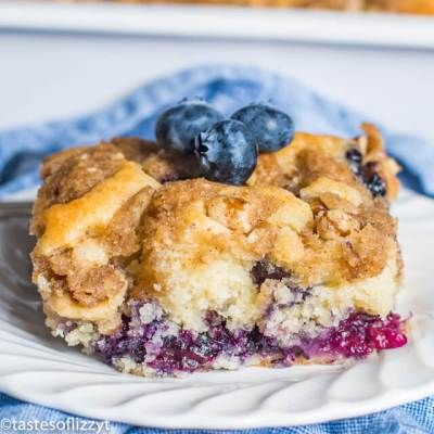 Blueberry Coffee Cake Recipe {Homemade Buttermilk Blueberry Cake}