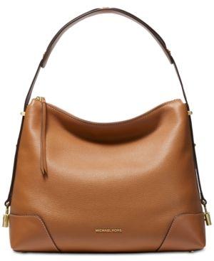 2e87fbd2850e Michael Michael Kors Crosby Pebble Leather Shoulder Bag - Black ...
