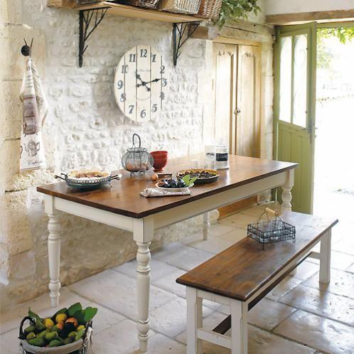 Mesa y sillas para cocina rustica decorar tu casa es - Mesa de cocina rustica ...