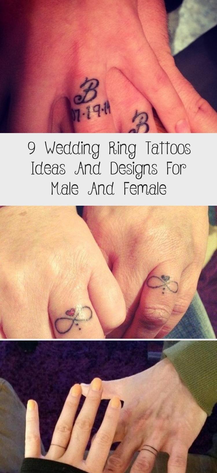 Photo of 9 idées et designs de tatouages d'alliance pour hommes et femmes #tattooideenfriends …