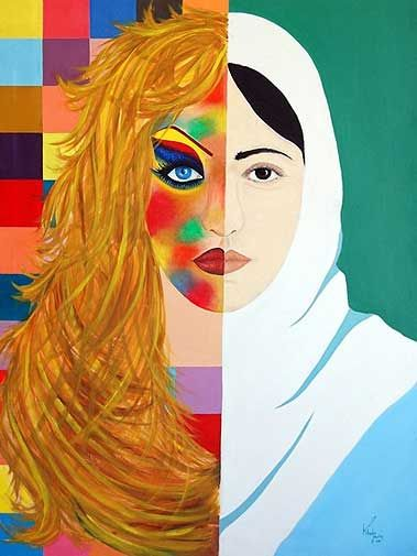 Khadija Hashemi painting - Would be fun to have students