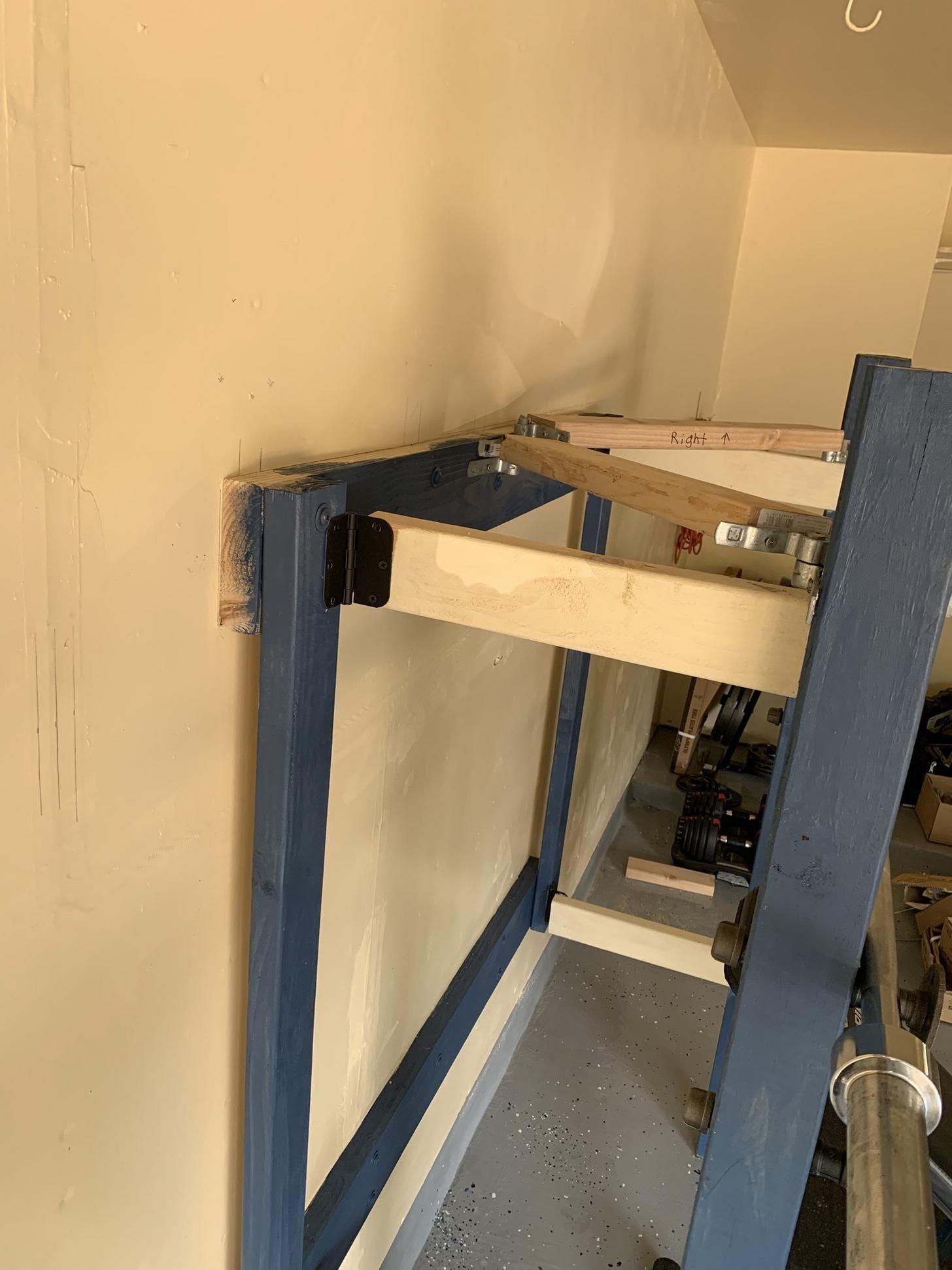 Diy folding squat rack imgur diy home gym home made