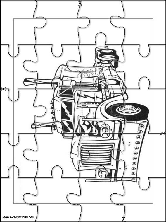 Printable jigsaw puzzles to cut out for kids Transformers 18 ...