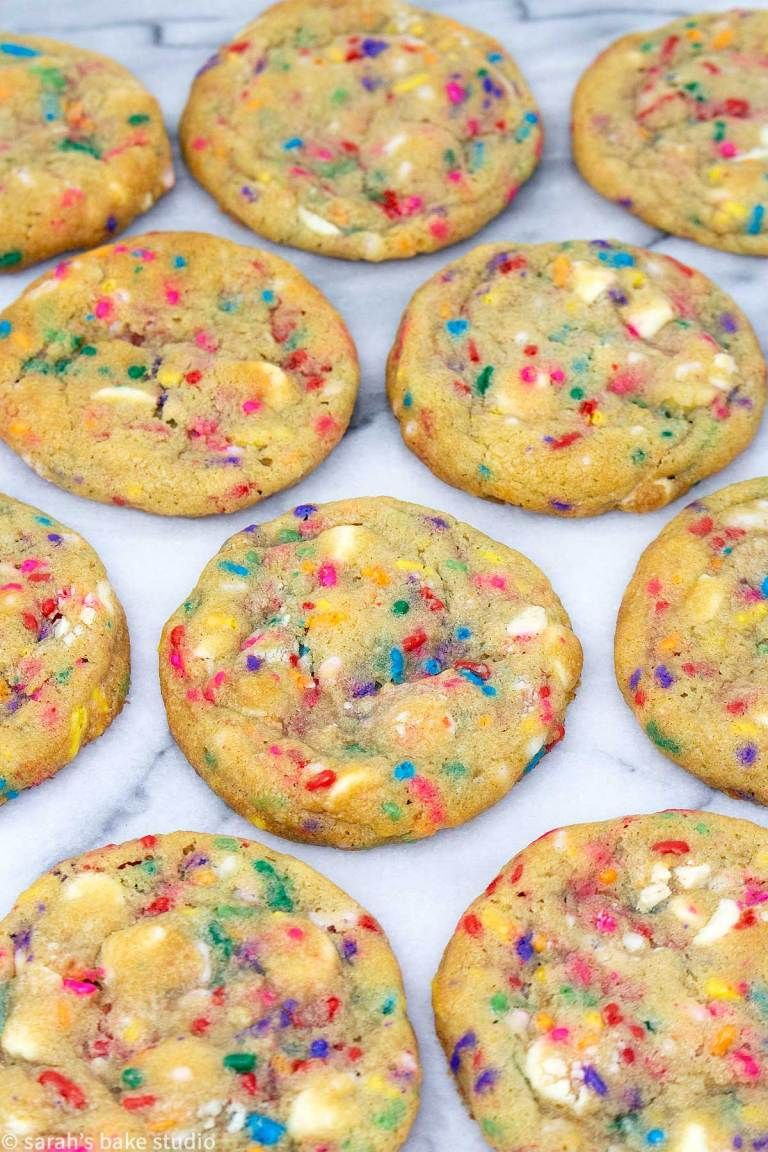 White Chocolate Confetti Cookies Gorgeous Soft And Chewy White Chocolate And Sprinkles Sugar Cookies
