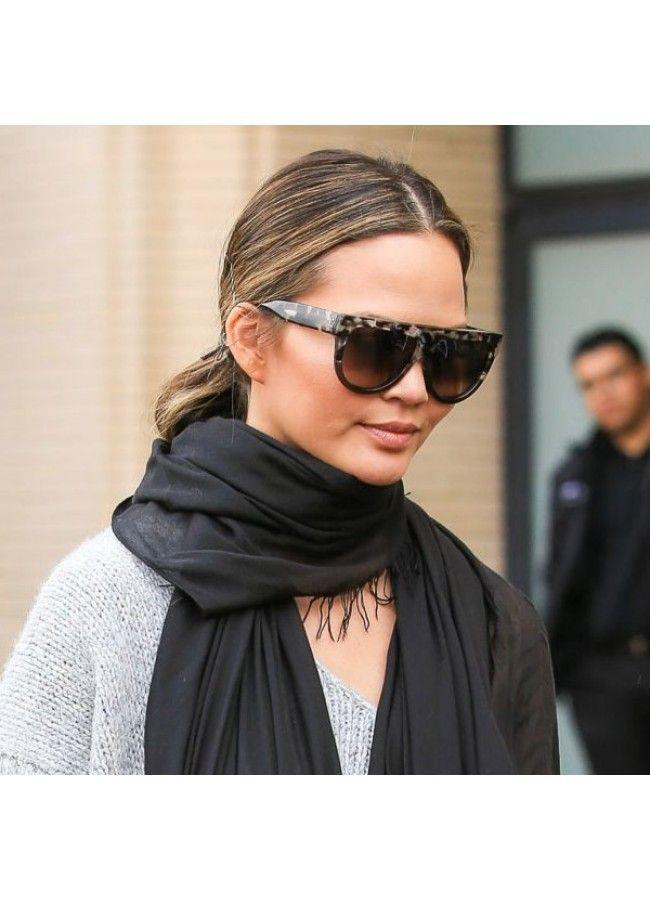c09ad5db76 Chrissy Teigen Style Flat Top Celebrity Sunglasses