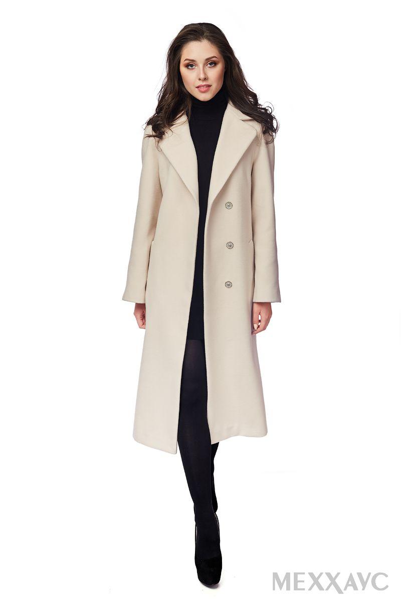 7bbb531b0cb Женское демисезонное пальто светло-бежевого цвета из итальянской шерстяной  ткани. Уже ни для кого