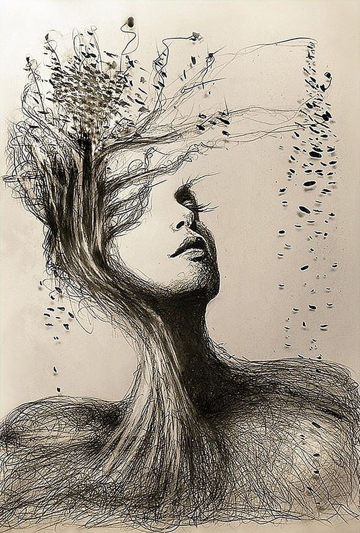 Pencil Drawing With Nature