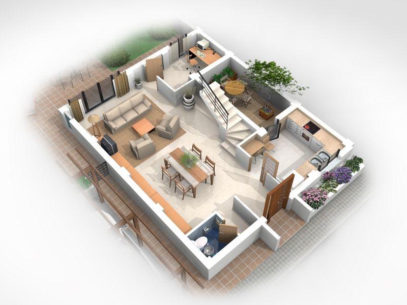 Distribuci n planta baja buscar con google planos en for Distribucion de casas modernas de una planta