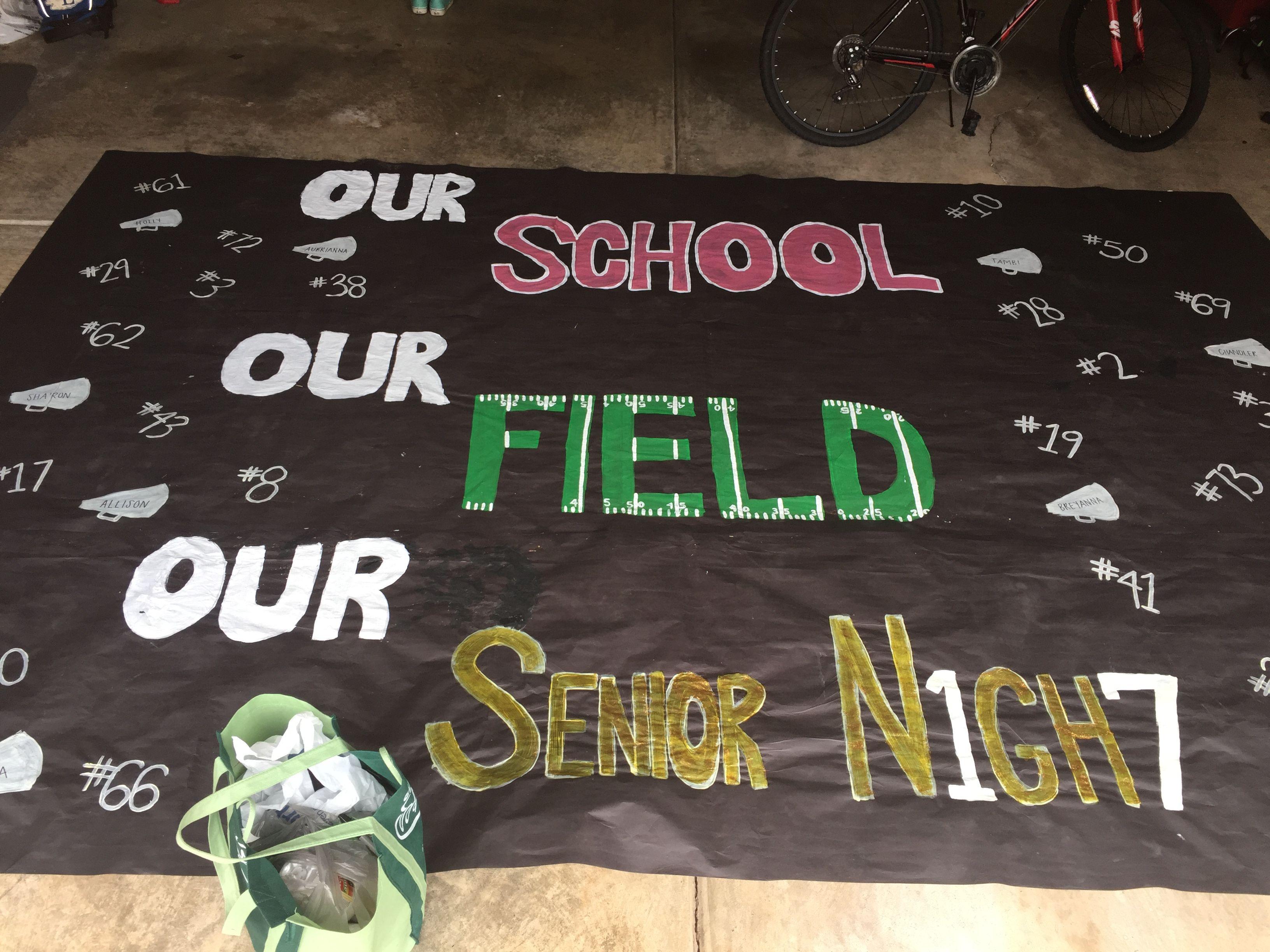 Senior Night Run Through Banner