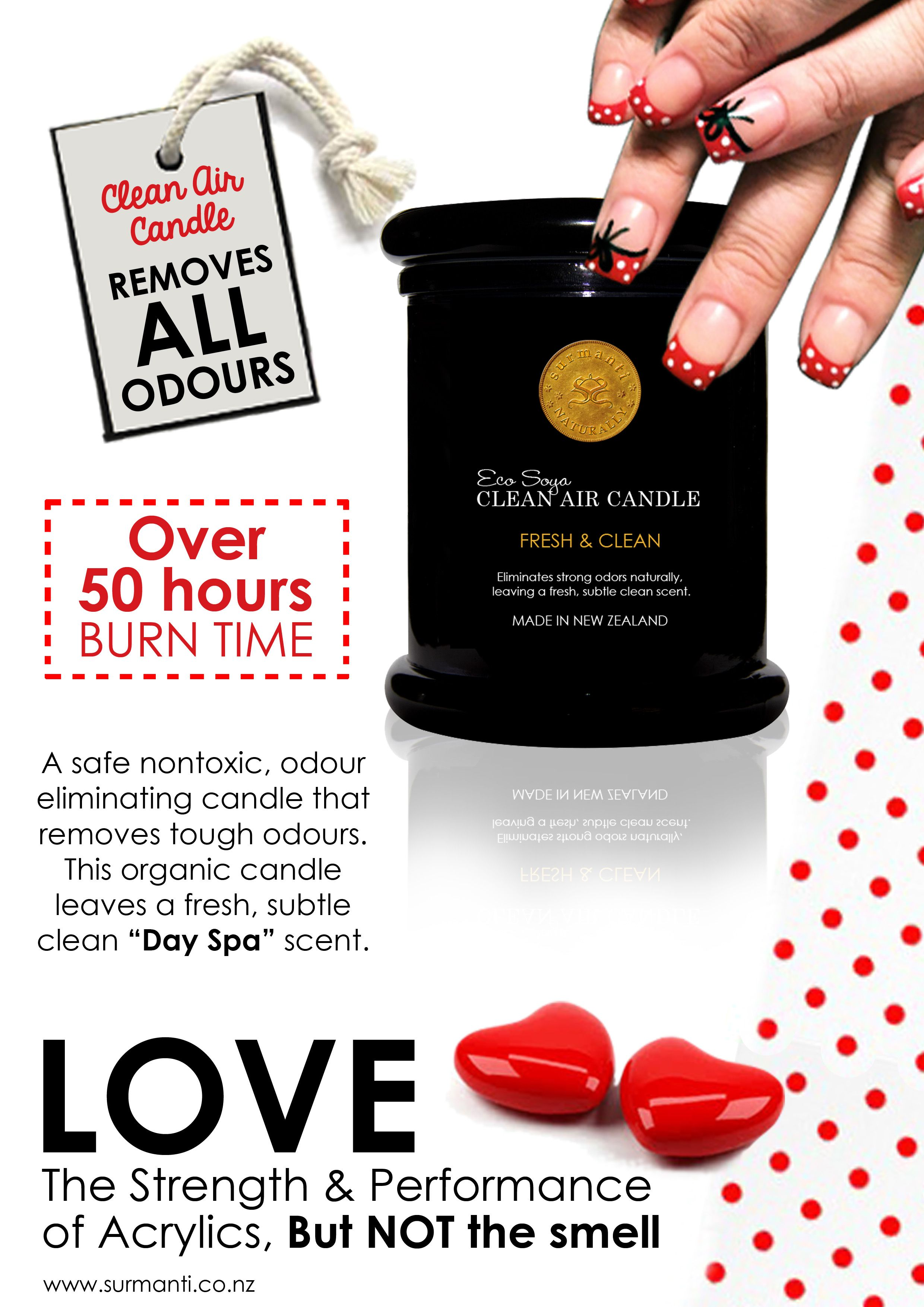 This is a shout out to all the Nail Techs...If you haven't tried this amazing candle in your salon, now is the time. It eliminates - Not masks all the smells :)