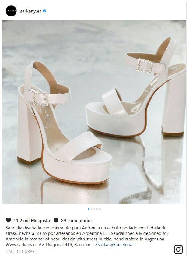 el mensaje de los zapatos de novia de antonela roccuzzo | frases