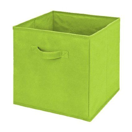 Collapsible Storage Cube Box 11 Quot X11 Quot X11 Quot Lime Green Collapsible Storage Cubes Cube Storage Storage