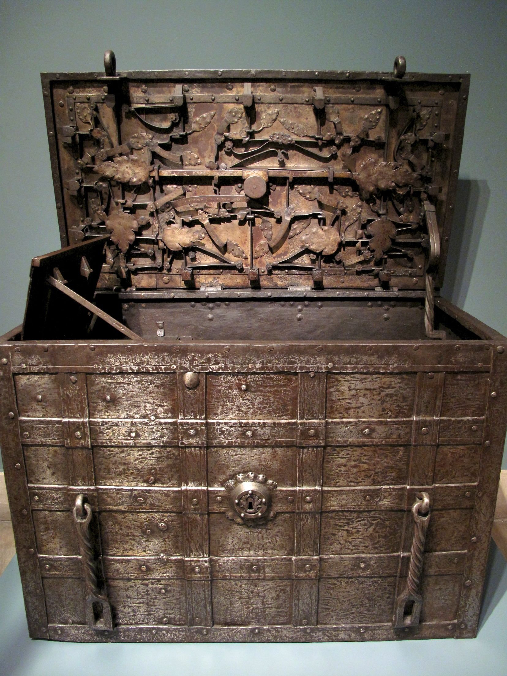 Medieval strongbox, seen at the Met in New York