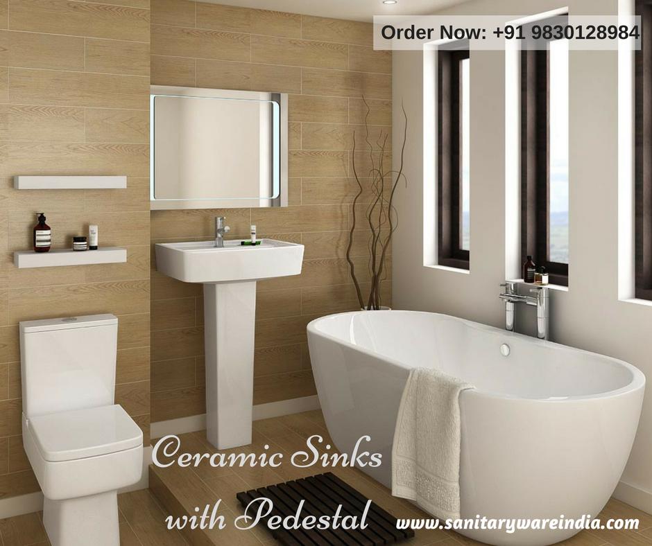 pedestal sink or vanity in small bathroom%0A Choose different style  color  u     designed Pedestal sinks for your bathroom  u      other places