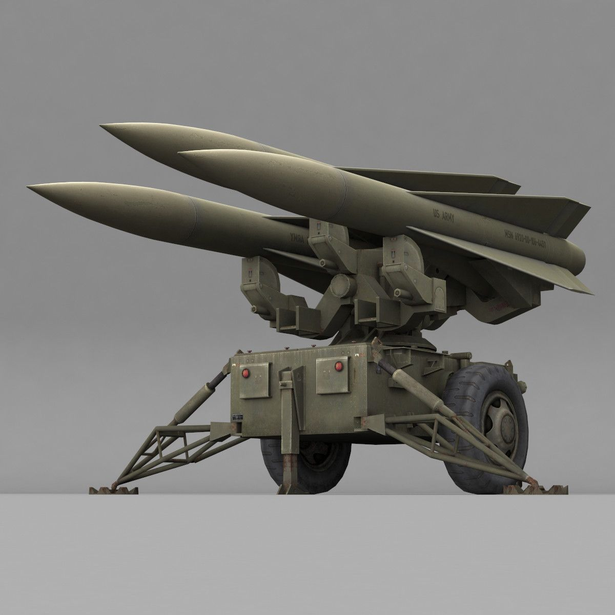 3d Hawk Missile Launcher Mim 23 Hawk Pinterest