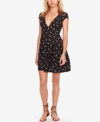 9f405b60ee Denim   Supply Ralph Lauren Floral-Print Fit   Flare Dress  44.99 With its  cutout back