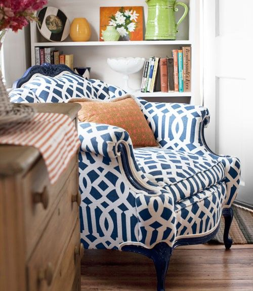 i think i love anything that is blue and has a pattern!