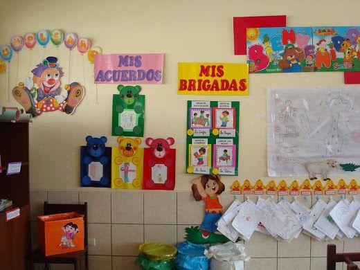 Ambientaci n y decoraci n de aula sal n de clases para - Manualidades para decoracion ...