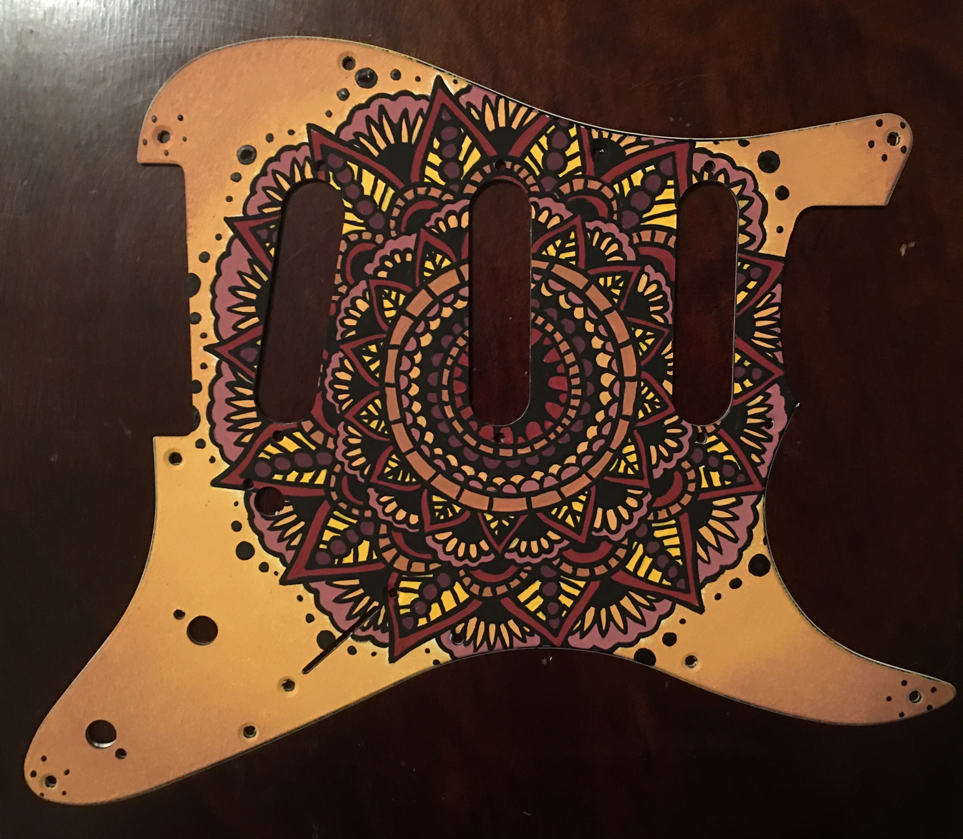 One of a kind custom hand painted strat pickguard none like it one of a kind custom hand painted strat pickguard none like it in the sciox Images