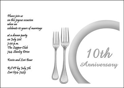 10th wedding anniversary invitations card at cardsshoppe 10th wedding anniversary invitations card at cardsshoppe filmwisefo
