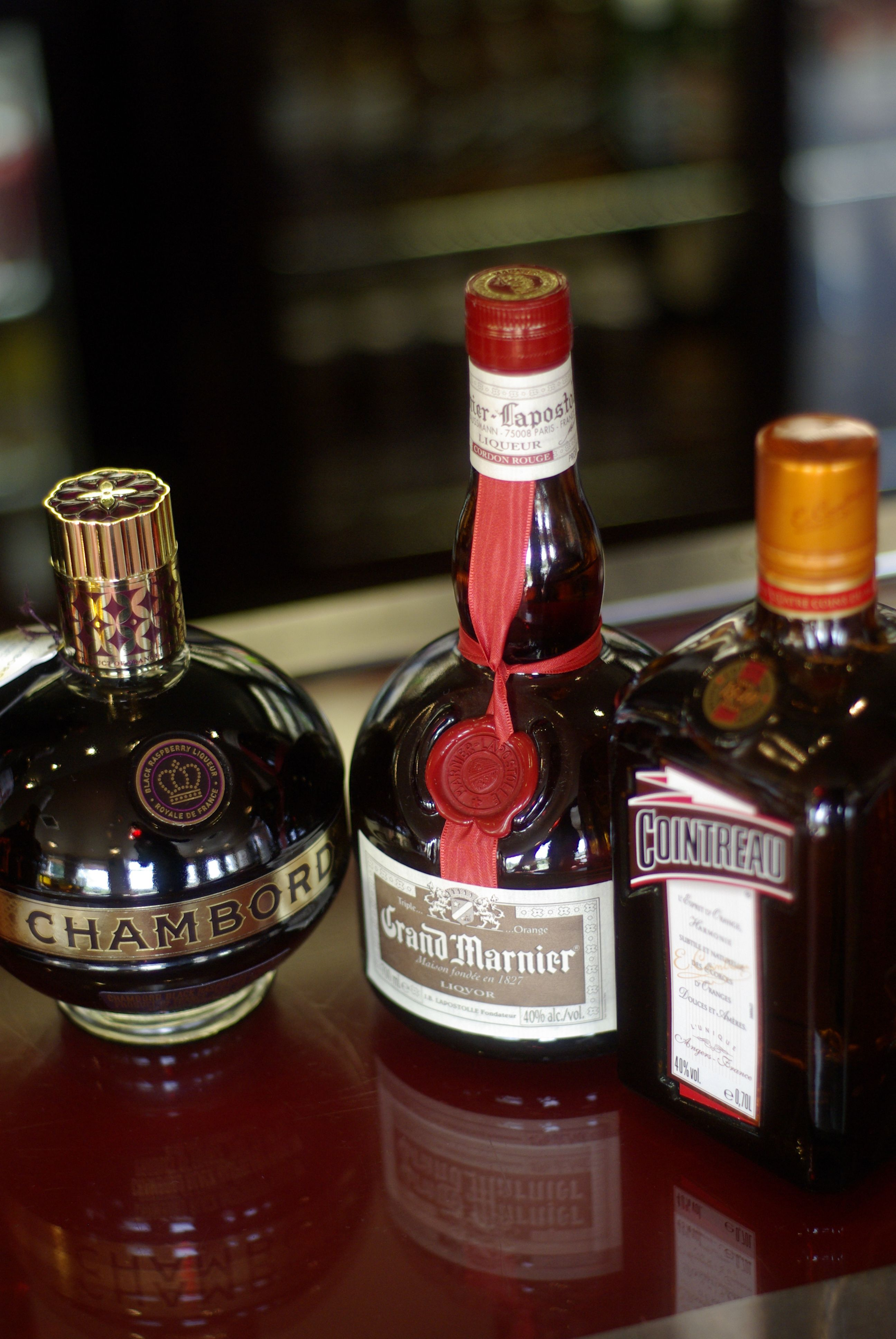 Vive la France!  liqueurs bursting with flavour from France available at Pitbauchlie House Hotel