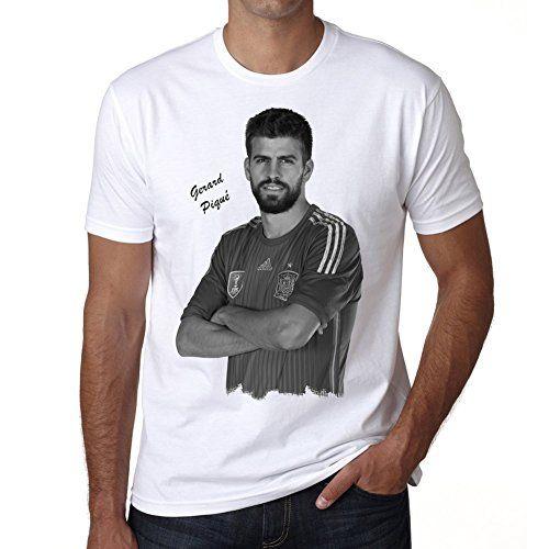Gerard Piqué 1 Men's T-shirt Celebrity Star ONE IN THE CITY - White, XXXL