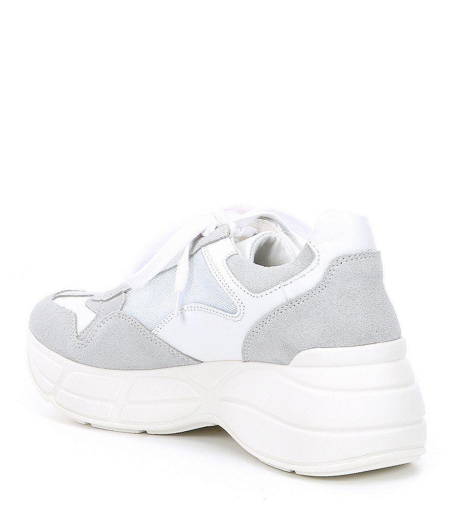 090680fa4da Steve Madden Memory Leather Color Block Sneakers Memory