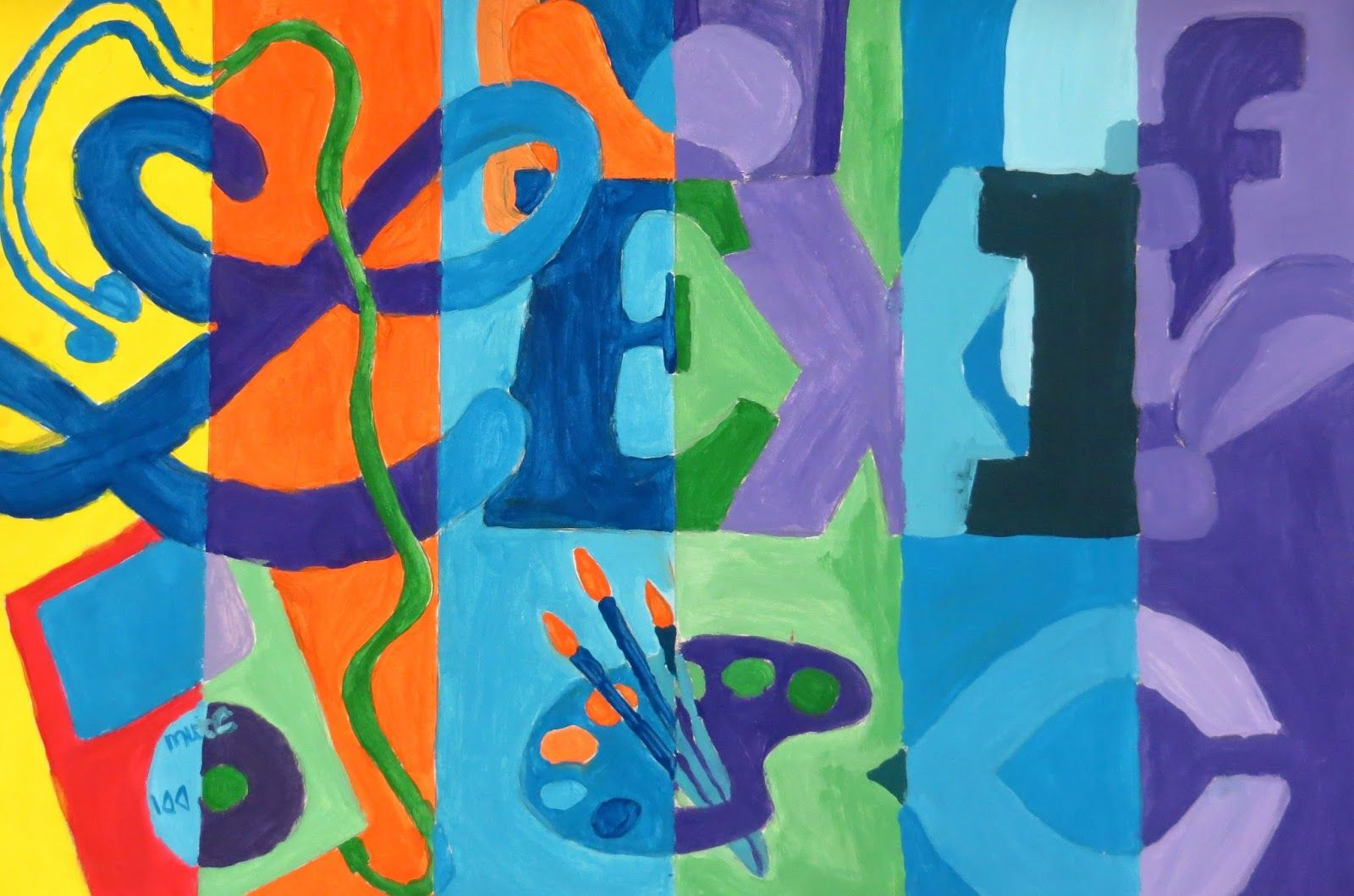 The Creative License Middle School Color Theory Painting