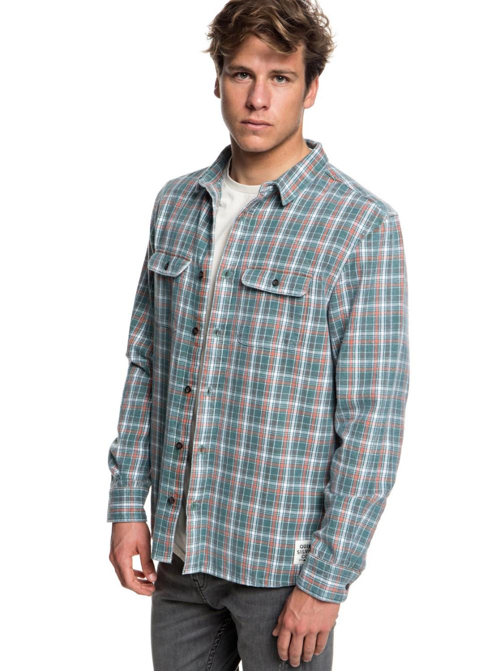 Quiksilver Mens Fuji Tang Button Down Flannel Shirt