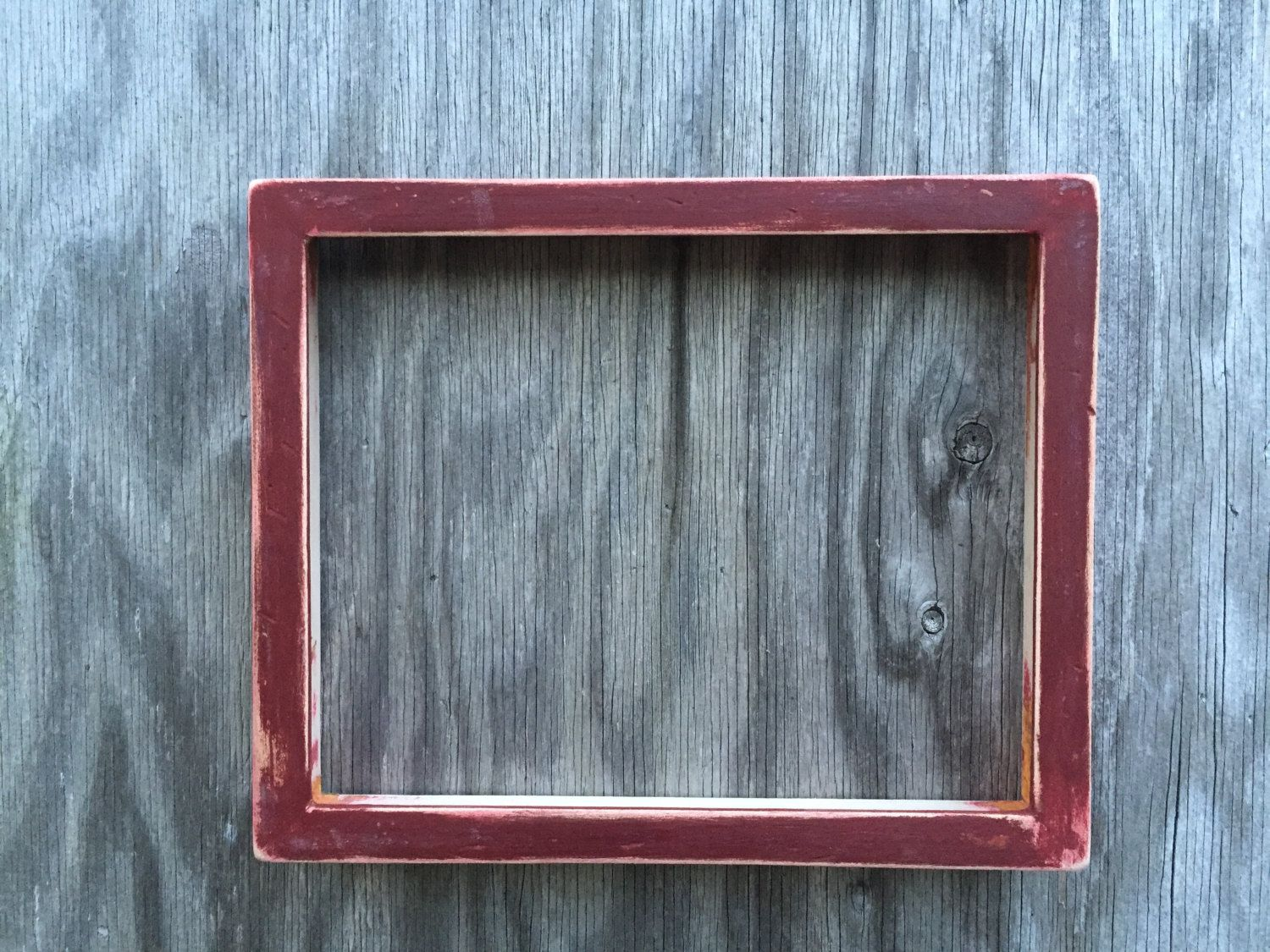 Rustic Red Distressed Solid Wood Frame, 8x10\