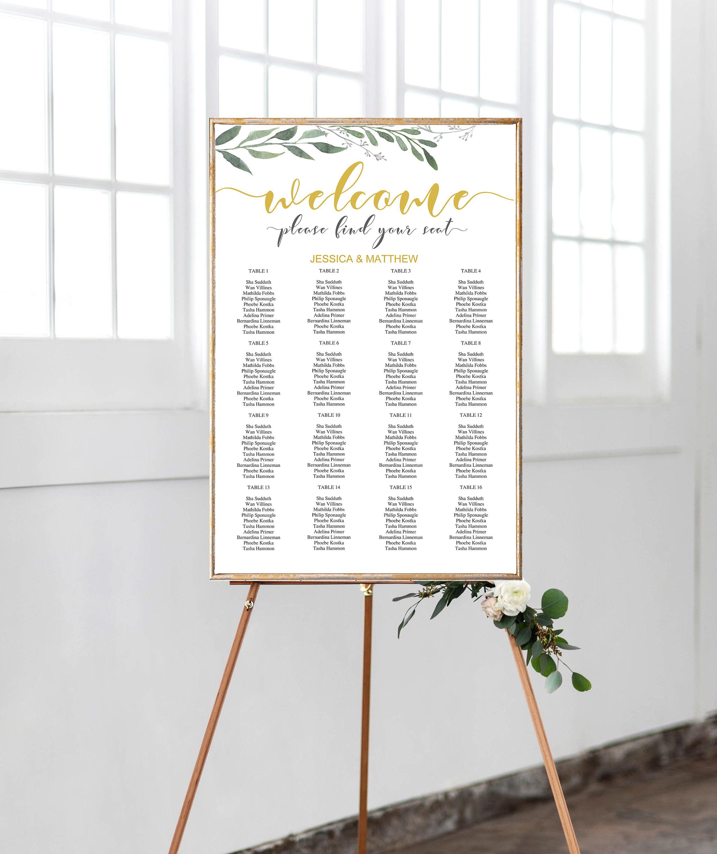 Wedding Seating Chart Template Alphabetical, Wedding Seating Chart ...