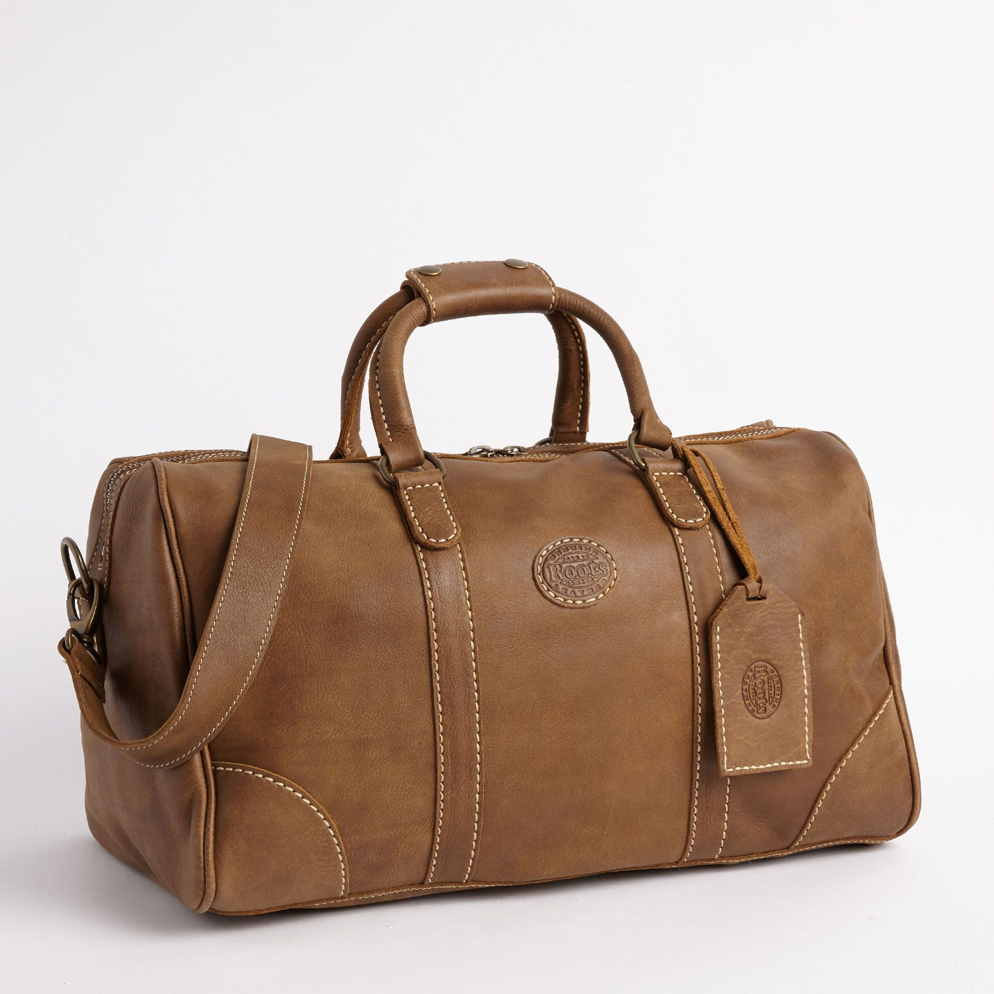 Small Banff Bag In Vintage Tribe Leather Weekender Bags Roots