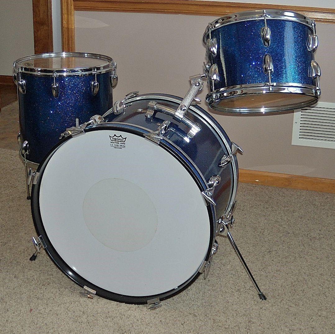 vintage 60s slingerland dark blue spkl 12 14 20 3 pc jazz drum kit ebay ye olde vintage drum. Black Bedroom Furniture Sets. Home Design Ideas