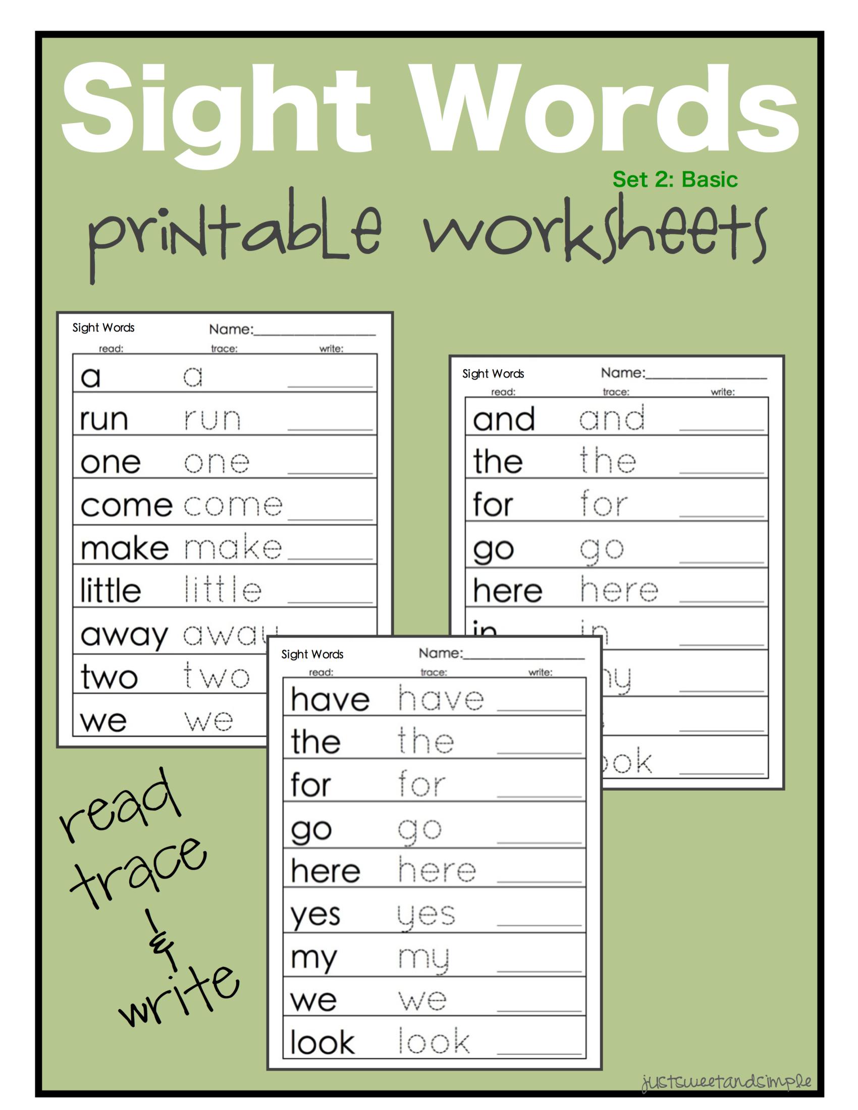worksheet Site Word Worksheets sight words b kindergarten pinterest homeschool just sweet and simple preschool practice printable dolch site word worksheets some of it is free