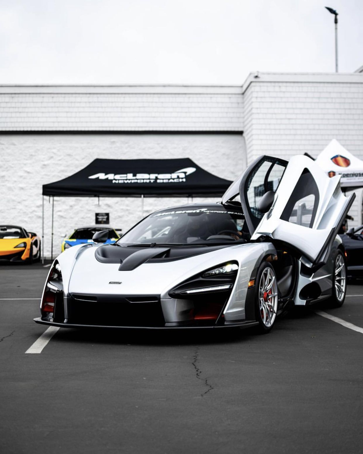 McLaren Senna Painted In Liquid Silver W/ Red Accents And