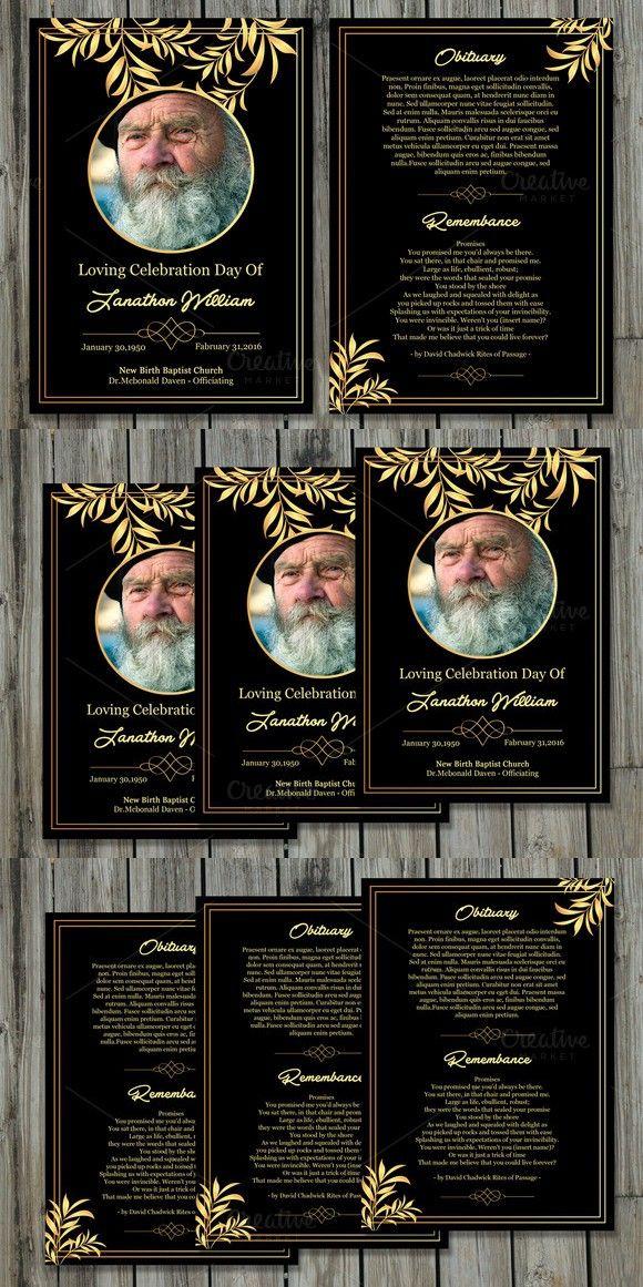 Funeral Program Card Template-V503 Brochure Templates Pinterest