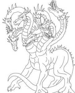 Color the Dragon Coloring Pages in Websites  | Scary